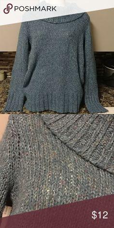 Maurices xxl sweater Cozy blue cowl sweater w sparkle. Sz xxl Maurices Sweaters Cowl & Turtlenecks