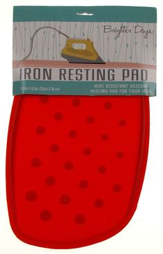 High Rise Red Iron Resting Pad Heat Resistant Silicone Morgan Home Brighter Days - FUNsational Finds - 1