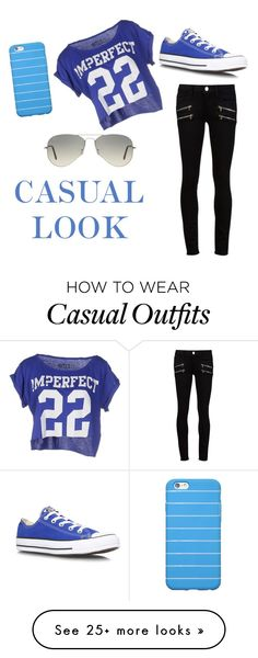 """casual look"" by gaga2002 on Polyvore featuring мода, Paige Denim, !M?ERFECT, Converse и Ray-Ban"