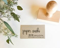 Business Card Stamp Custom 2 3/4 Business Card or by papersushi