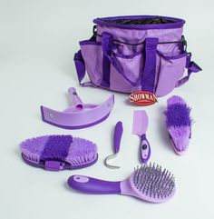 Showman 6 Piece Horse Grooming Kit - Green Mountain Horse & Tack $29.99 not sure if good quality but it looks cute!!