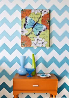Ombre Chevron stripe pattern