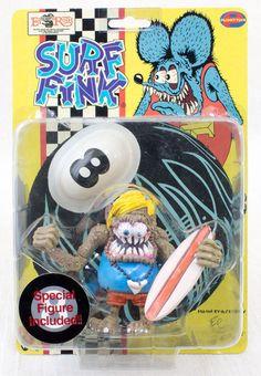RAT FINK Action Figure Series Surf Fink Planet Toys Art Storm 1998 JAPAN