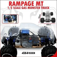 Redcat Rampage MT V3 1/5 Gas Monster Truck $729.99 #SocalHobby #RC