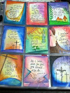 peggy aplSEEDS: Lenten Reflections / more on website Scripture Cards, Bible Verses, Scripture Study, Prayer Cards, Scriptures, Bible Study Journal, Art Journaling, Prayer Journals, Journal Art