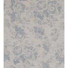 Cabbages and Roses Paris Rose Blue - This beautiful floral fabric is suitable for curtains, blinds, soft furnishings and light upholstery. Curtains To Go, Rose Curtains, Curtain Material, Curtain Fabric, Curtain Sets, Chair Fabric, Green Fabric, Floral Fabric, Beige Bed Linen