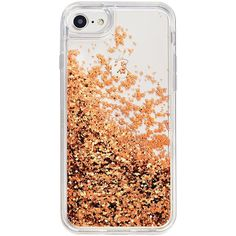 MixBin Rose Gold iPhone 6/6s/7 Snowglobe Case ($13) ❤ liked on Polyvore featuring accessories, tech accessories and no color