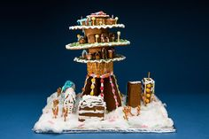 GINGERBREAD HOUSE 2015 Are there limits to what we can build out of gingerbread? Since 1990, the Swedish Centre for Architecture and Design's Gingerbread House exhibition has been a beloved tradition that has generated great interest among our visitors with themes such as the funhouse, the metropolis, dangerous liaisons, and homelessness. #gingerbread #gingerbreadhouse #gingerbreadcompetition #arkdes #christmas #holidays #pastries #pepparkakshus