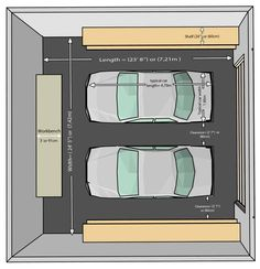 garage size for two cars, garage dimensions for two cars, garage ...