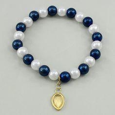 Cristal pulsera de perlas, acero inoxidable, con Perlas de vidrio, Gota, chapado, pulsera del encanto & flor cortada, más colores para la opción, 8mm, 9x17x1.5mm, longitud:aproximado 6.5 Inch, 10Strandsfilamento/Grupo, Vendido por Grupo,Abalorios de joyería por mayor de China