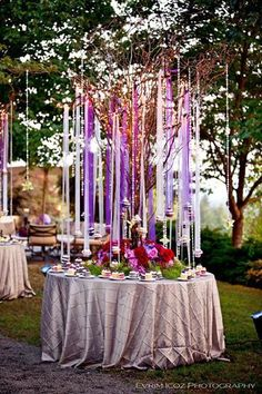 Suspended or hanging cakes - such a magical wedding dessert display