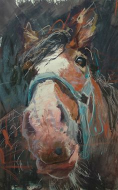 'Horse in blue halter' - james bartholomew - adore this!!!!!!!!!!!!!!!!!!!!!!!!!!!!!!!!!!!!!!!!