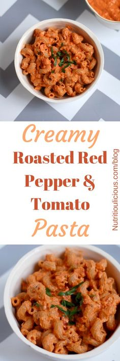 creamy roasted red pepper and tomato pasta sweet roasted red peppers ...