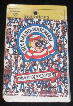 Where's Waldo Party Invitations New Package of 8 | eBay