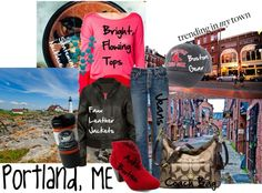 """What's Trending in MY Town: Portland, ME"" by fourauntied ❤ liked on Polyvore"