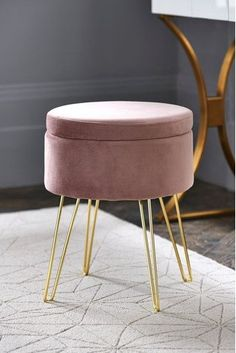 Buy Homeware Bedroom chair & Stool from the Next UK online shop Bedroom Stools, Bedroom Chair, Living Room Chairs, Bedroom Furniture, Bedroom Decor, Bedroom Storage, Dining Room, Desk Stool, Vanity Stool