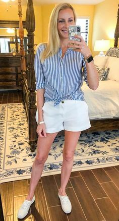 Keds, White Shorts, Short Dresses, Cute Outfits, How To Wear, Clothes, Style, Fashion, Tall Clothing