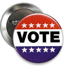 """Vote Campaign Button- 3"""" Round"""
