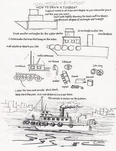 how to draw a gondola step by step