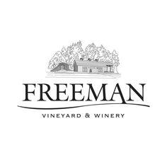 FREEMAN VINEYARD & WINERY Award-winning Sebastopol, CA vineyard and winery. View more. Winery Logo, Interactive Design, Signage, Vineyard, Identity, Logos, Billboard, Signs, Logo