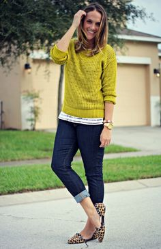 TJ Maxx Fall Lime Sweater 3 Ways