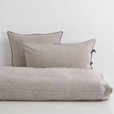 Tweekleurig Gestreepte Linnen Lakens en Slopen - Bed - Linen - Shop by collection   Zara Home Holland