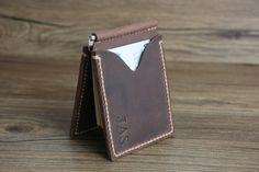 PERSONALIZED WALLETMen's Leather Money Clip by RockyLeatherDesign