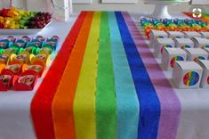 40 rainbow baby shower ideas to celebrate a little miracle – # baby shower … - diy clothes Recycling Ideen My Little Pony Party, Fiesta Little Pony, Diy Baby Shower Decorations, Rainbow Decorations, Decorating With Streamers, Art Party Decorations, Halloween Decorations, Trolls Birthday Party, Art Birthday
