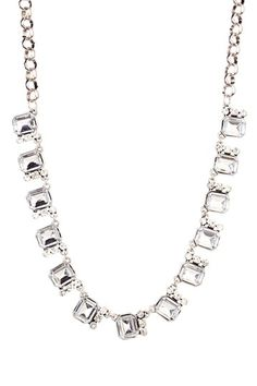 Silver Square Statement Necklace