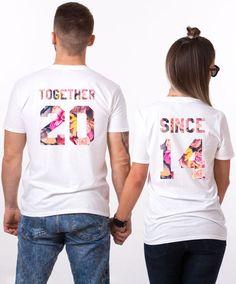 Together Since Floral Shirts Flower Shirts Together Since