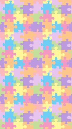 quenalbertini: Puzzle Wallpaper iphone 6 Plus Pretty Phone Wallpaper, Iphone 6 Wallpaper, Colorful Wallpaper, Screen Wallpaper, Cool Wallpaper, Wallpaper Backgrounds, Scrapbook Paper, Scrapbooking, Note Paper
