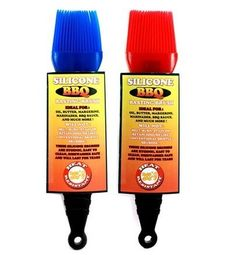 """2 PACK Heat Resistant SILICONE BBQ Brushes - Assorted Colors by DB Brands. $5.39. Ideal For Oil, Butter, Margarine, Marinades, BBQ Sauce And Much More. Dishwasher Safe And Will Last For Years. Hygenic And Easy To Clean. Will Not Melt, Burn, Stain Or Retain Odors.. Includes 2 Brushes - Assorted Colors. The silicone sauce brush is 8"""" long to keep your hand a comfortable distance from a hot grill. Use it to apply barbecue sauce, baste a turkey, spread melted butter, pre-coat the..."""