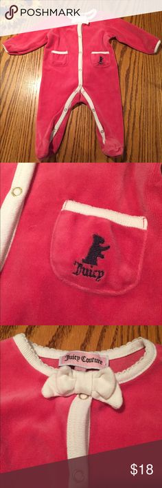 Juicy Couture pink velour pjs. Size 3/6 months Like new Juicy Couture pink velour pjs. Size 3/6 months Juicy Couture Pajamas