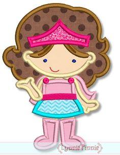 SUPERHERO GIRL 1 Applique 4x4 5x7 6x10 svg  Machine Embroidery Design  INSTANT Download