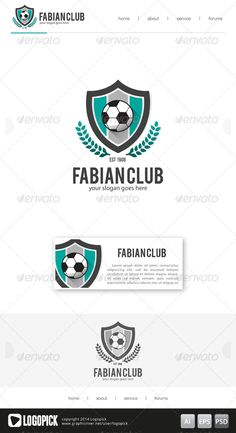 Football Club Logo 02 is 100 editable and resizeable vectors!Well organized file, All colors and text can be modified.Font: see