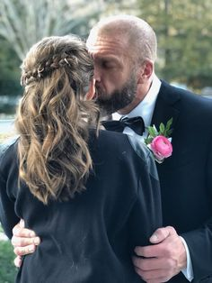 WWE legend Triple H (Paul Levesque) escorted his oldest daughter Aurora Rose Levesque to her first father-daughter dance Aurora Rose, Wwe Couples, Daddy Daughter Dance, Stephanie Mcmahon, Charlotte Flair, Triple H, My Little Girl, Daughters, Wrestling