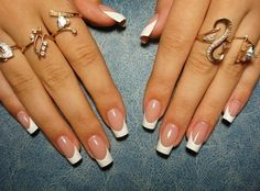 Purfect French Manicure. Follow me for more...