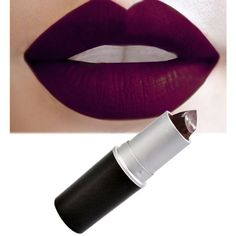 Buywish Lipstick Lip satin Dark Color ($14) ❤ liked on Polyvore featuring beauty products, makeup, lip makeup, lipstick, beauty and lips