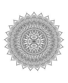 Mandala Iv Rave Colouring Pages Page 3