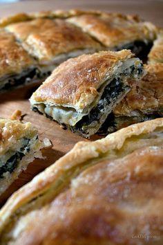 Pizza Tarts, Greek Pita, Spanakopita, Greek Recipes, Creative Food, Other Recipes, Nutella, Brunch, Lunch Box