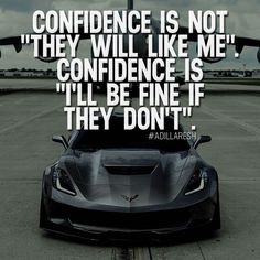"Confidence is not ""they will like me"". Confidence is ""I'll be fine if they don't"". How do you feel about this? >> /luxuvore/ for more!"