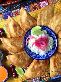 La Piña en la Cocina - Embracing my Mexican heritage and sharing all the wonderful flavors, colors and foods I grew up with. Join me on this journey as I also learn new foods and cooking techniques. Dedicated to my parents Ramiro and Blanca. Beef Empanadas, Empanadas Recipe, Chile Colorado, Pickled Cabbage, Cabbage Slaw, Mexican Dishes, Mexican Food Recipes, Ethnic Recipes, Shrimp Recipes Easy