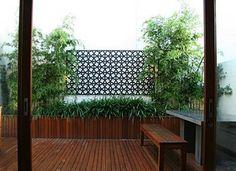 modern garden courtyard