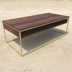 Plastolux Cube Coffee Table Brass and Walnut by plastolux on Etsy