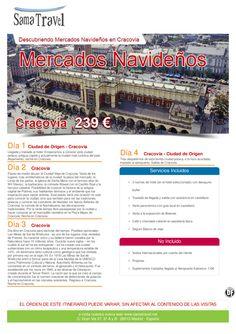 Descubriendo Mercados Navideños en Cracovia Desde  239 € ultimo minuto - http://zocotours.com/descubriendo-mercados-navidenos-en-cracovia-desde-239-e-ultimo-minuto-2/