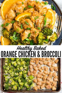 This healthy orange chicken is baked and not fried. The sweet, sticky orange sauce tastes like Panda Express orange chicken but is so much better for you! Easy Healthy Dinners, Healthy Dinner Recipes, Cooking Recipes, Quick Easy Healthy Dinner, Easy Healthy Chicken Recipes, Low Calorie Chicken Recipes, Healthy Low Calorie Dinner, Easy Weekly Meals, Low Calorie Dinners