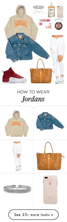 """"""""""" by danielahoney on Polyvore featuring Bling Jewelry, Maison Margiela, Jeffree Star, Laura Geller, NIKE, MCM and Balenciaga"""
