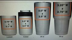 Imprint sizes for Yeti cups