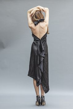 The Seductive Hera | a backless LBD by Elika In Love. Shop the look www.elikainlove.com Fashion Project, Vogue, Lbd, Silk Dress, Backless, Shopping, Dresses, Silk Gown, Vestidos