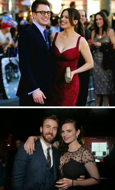 Chris Evans and Hayley Atwell. I ship them, I don't care.